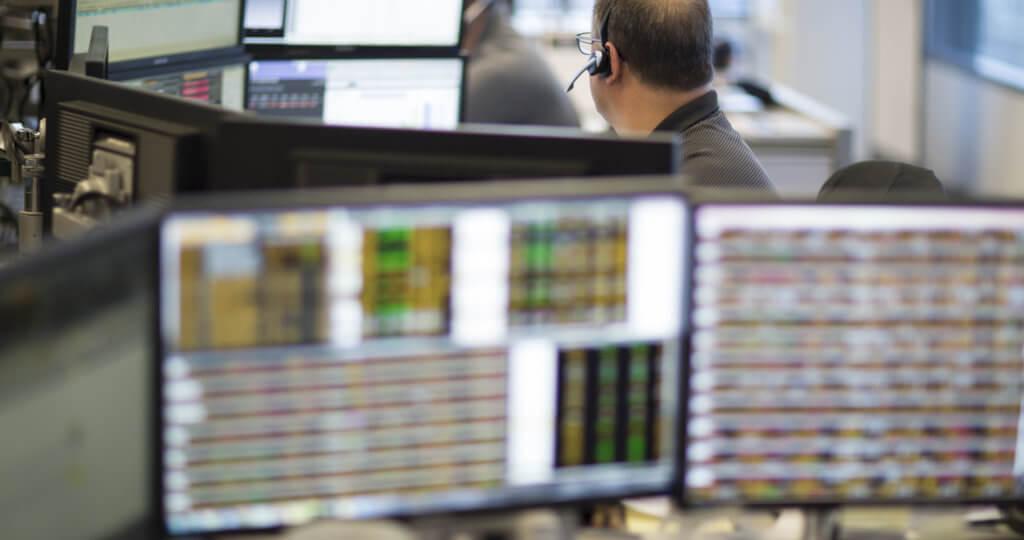 Traders computer monitor