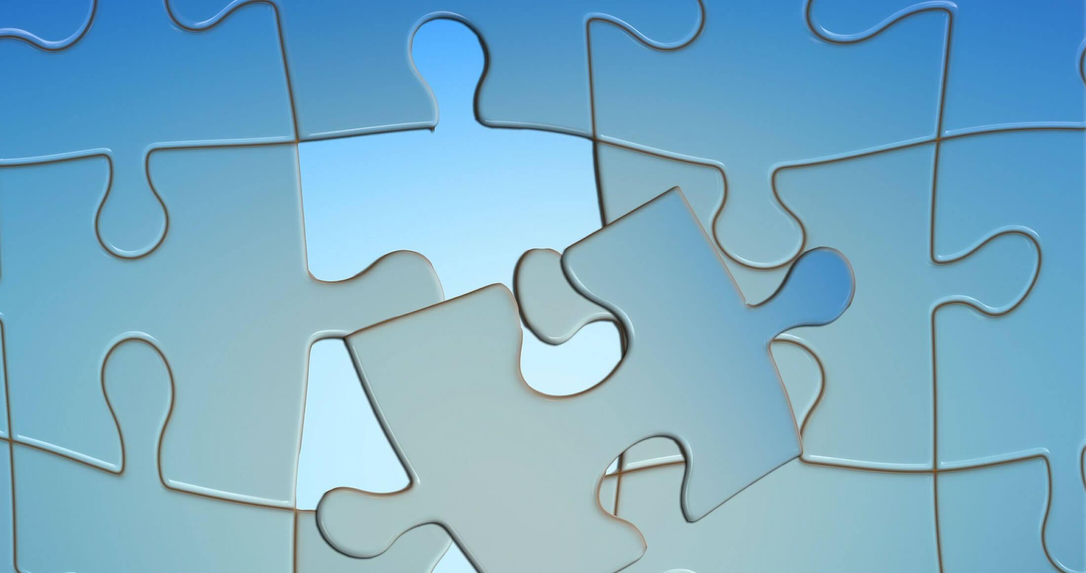 Blue Puzzle Pieces image